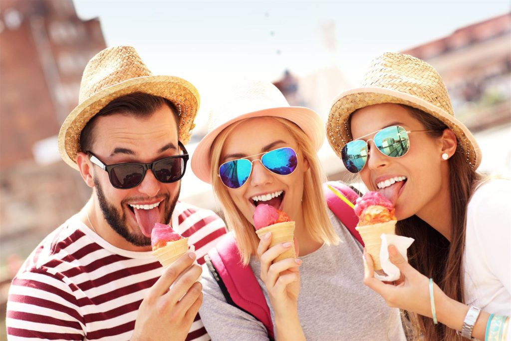 friends eating ice-cream