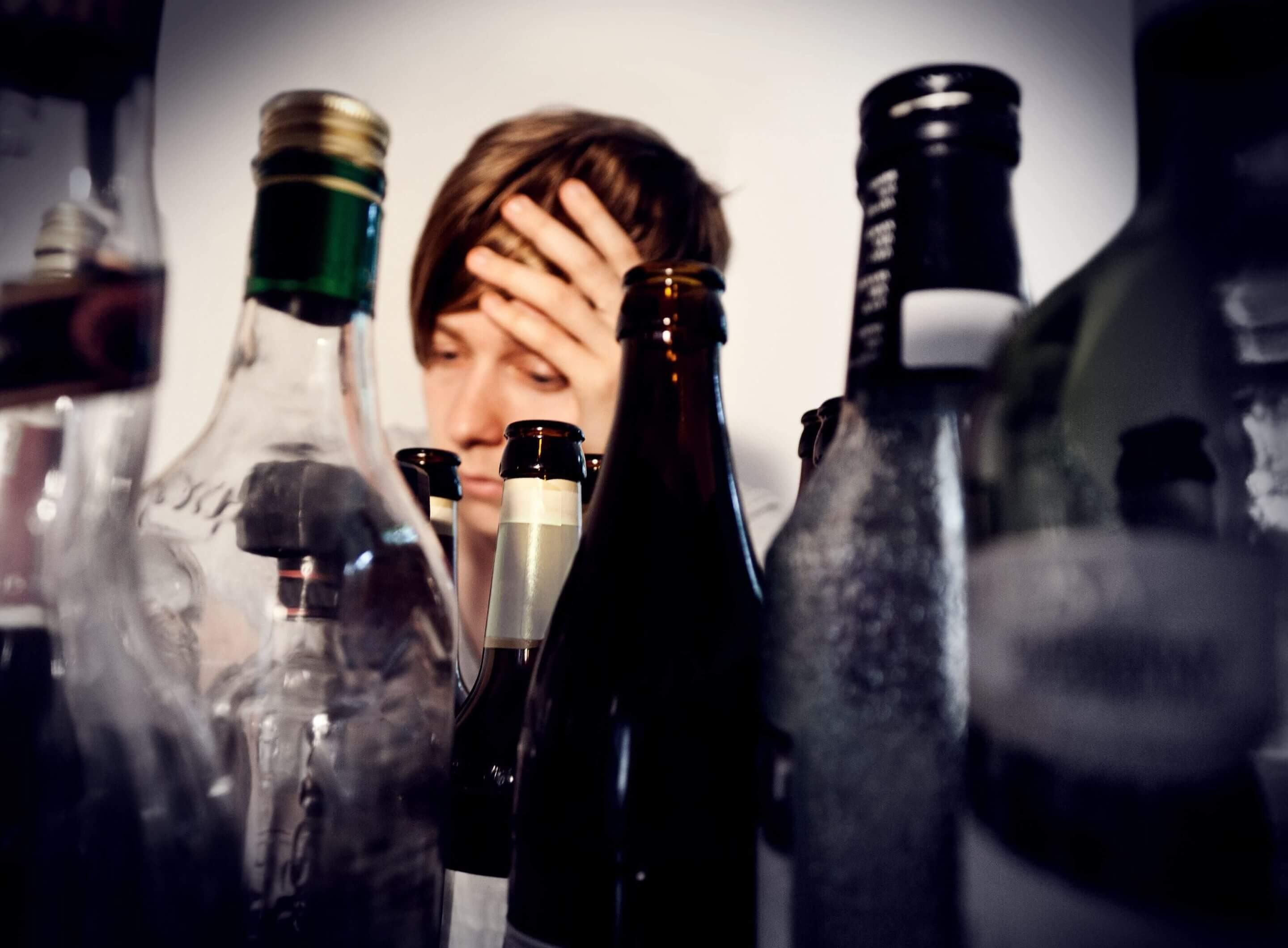 person suffering from alcohol withdrawal