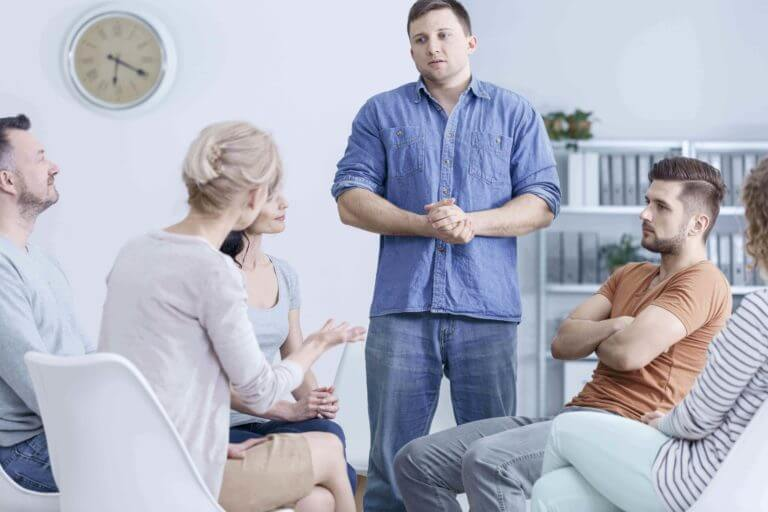 specialist staging an intervention